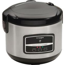 Presto 05813 16-Cup Digital Stainless Steel Rice Cooker/Stea