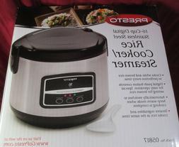 Presto 05817 12 Cup Rice Cooker Steamer Black