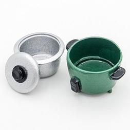 Odoria 1:12 Miniature Metal Green Rice Cooker Dollhouse Kitc