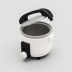 Odoria 1:12 Miniature Plastic White Rice Cooker Dollhouse Ki