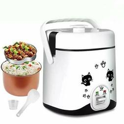 1.2L Mini Rice Cooker, Electric Travel Rice Cooker Small, El