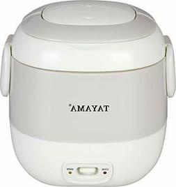 Tayama 1.5 Cup Portable Mini Rice Cooker, White