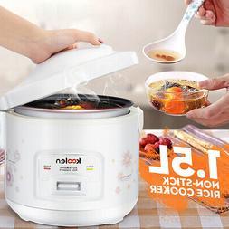 1.5L Mini Rice Cooker 220V 500W Electric Non-Stick Steamer W