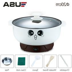 110V 2.3L Stainless Steel Electric Skillet Hot Pot Noodles R