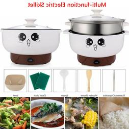 110V Home Electric Skillet Nonstick Hot Pot Noodles Rice Coo