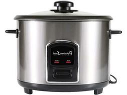 Continental Electric 12 Cup Rice Cooker, Stainless Steel PS7