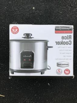 Professional Series 12 Cup Stainless Steel Rice Cooker with