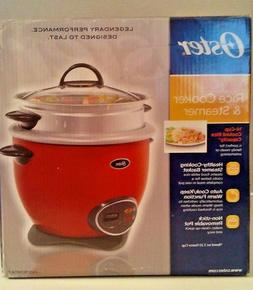 Oster 14-Cup  Rice Cooker with Steam Tray - Red