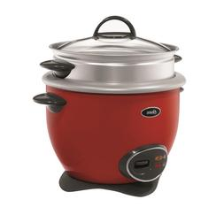 14 Cup  Rice Cooker with Steam Tray Red Electric Countertop