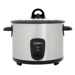 Premium 16 Cup Rice Cooker Stainless steel Glass Lid Keep wa