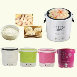 1L Portable Lunch Box Rice Cooker Steamer 220V/12V/24V Stain