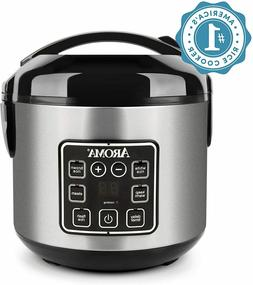 New Aroma Housewares 2-8 Cup Digital Cool-Touch Rice -FREE S