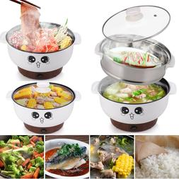 2.8L Electric Cooker Skillet Wok Hot Pot For Cook Rice Fried