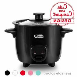 2 Cup Mini Rice Cooker Steamer with Removable Nonstick Pot &
