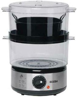 2-Tier Vegetable Food Steamer And Rice Cooker 5-Quart Capaci
