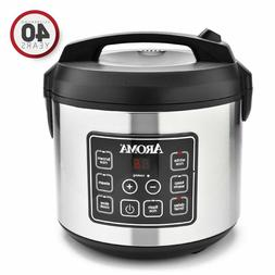Aroma Housewares 20 Cup Cooked  Digital Rice Cooker Slow Coo