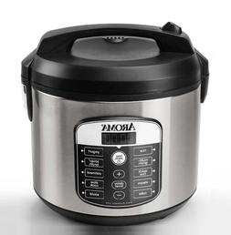 20-Cup Digital Multicooker & Rice Cooker,Stainless Steel,Fas