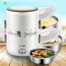 2L Electric Steamer 3 Layer Rice Egg Cooker Food Warmer Port