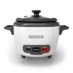 3-Cup Electric Rice Cooker Personal Size Nonstick Steamer Wh