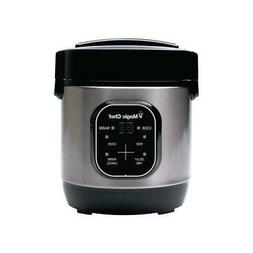 3-Cup Stainless Steel Rice Cooker with Non-stick Inner Pot,
