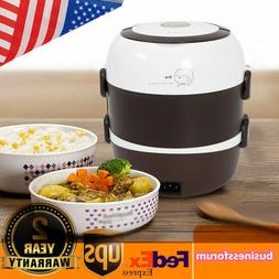 2L 3 Layer Electric Lunch Box Steamer Pot Rice Cooker Stainl