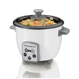 Hamilton Beach 37506 Digital Rice Cooker, White Small Size