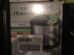 Hamilton Beach 37543 Rice & Hot Cereal Cooker, Stainless Ste