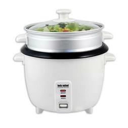 Better Chef 5-Cup Rice Cooker w/ Food Steamer