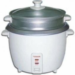 Brentwood 5 Cup Rice Cooker With Steamer White - White