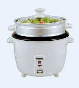 5-Cup Uncooked/10-Cup Cooked Rice Cooker & Food Steamer, Whi