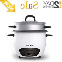 6 Cup Cooked 3-Cup UNCOOKED Pot Style Rice Cooker and Food S