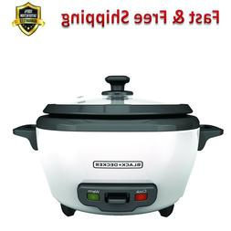 6 Cup Cooked Rice Cooker Food Steamer Nonstick Rice Pot Food
