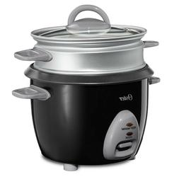 Oster 6-Cup Rice Cooker with Steam Tray, Black