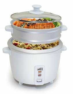 6 Cup Rice Cooker with Steamer Automatic Keep Warm Makes Sou