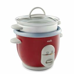 6 Cup Rice Cooker with Steamer Durable One Touch Controls &