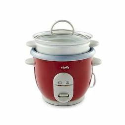 Oster 6-Cup Rice Cooker with Steamer, Red  6 Cup