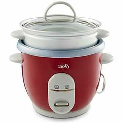 "6-Cup Rice Cookers With Steamer, Red  Kitchen "" Dining"