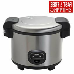 60-Cup Commercial Rice Cooker Heavy-Duty Stainless Steel Lid