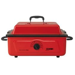 Nesco 5 Qt. 600 Wt. Roaster Porcelain Cookwell, Red, 1 ea