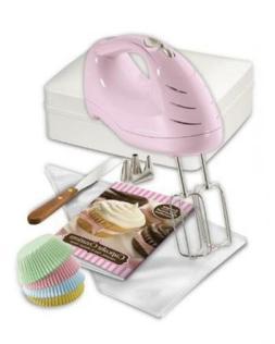 Hamilton Beach 62666 Cupcake Creations Hand Mixer with Decor