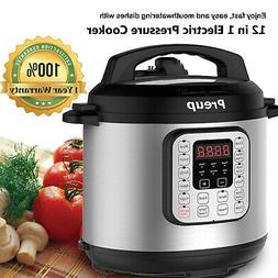 6L Electric Pressure Cooker 12 Cooking Programs Multi Cooker