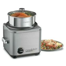 8-Cup Stainless Steel Rice Cooker with Cord Storage