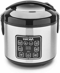Aroma 8C Digital Cool-Touch Rice Cooker and Food Steamer-Cer