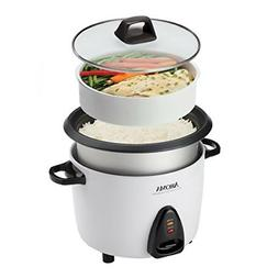 Aroma 20-Cup Pot-Style Rice Cooker & Food Steamer, White