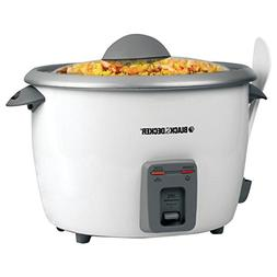 Black & Decker 28-Cup Rice Cooker, White