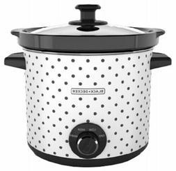Black & Decker SC1004D Slow Cooker, 4 Quart, Black/White, 1