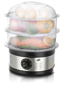 Maxi-Matic EST-2301 Food Steamer, 8.5 Quart, Stainless Steel
