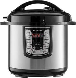 Gourmia - 8-quart Pressure Cooker - Stainless Steel