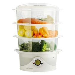 Gourmia Electronic Digital 3 Tier Vegetable & Food Steamer -