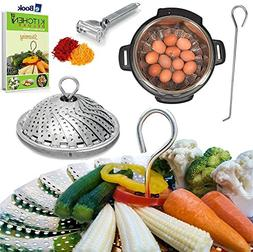 PREMIUM Veggie Steamer Basket - Large - BEST Bundle - Fits I